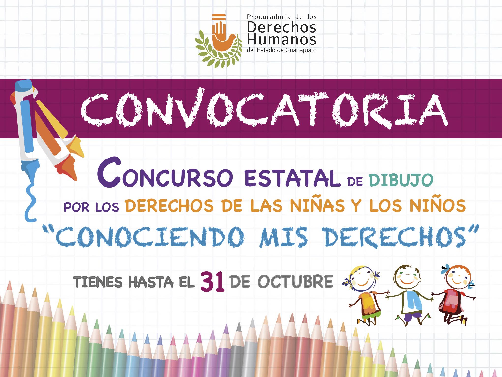 Concurso Estatal de dibujo por los derechos de las niñas y los niños.