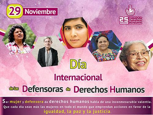 Día Internacional de las Defensoras de Derechos Humanos
