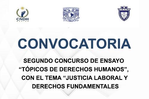 """Segundo Concurso de Ensayo """"Tópicos de Derechos Humanos"""""""