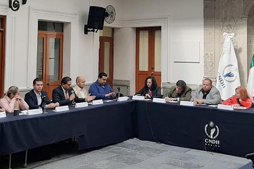 Se reúne Federación Mexicana de Organismos Públicos de Derechos Humanos con titular de la CNDH