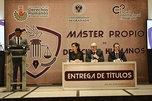 Reciben Títulos del 2do. Máster en Derechos Humanos